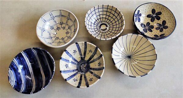 Fuente redonda grande de cerámica artesanal. Ø24 x 9