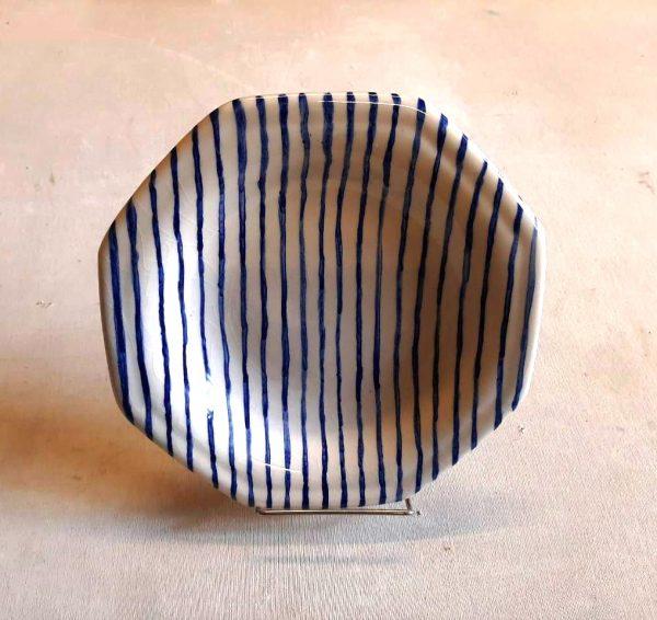 Plato octogonal Hondo de cerámica artesanal GEA