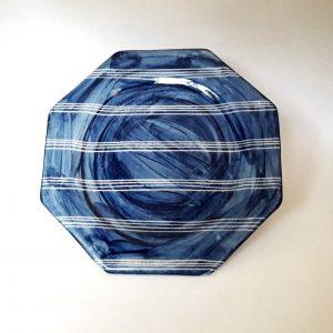 Plato octogonal Playo de cerámica artesanal GEA