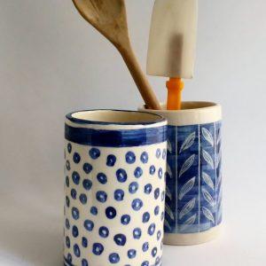 Porta Utensilio de cerámica artesanal GEA