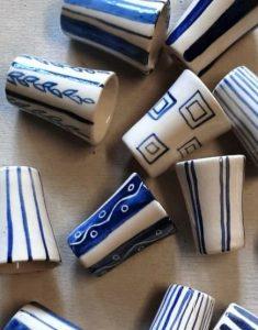 Vasito de Licor de cerámica artesanal GEA