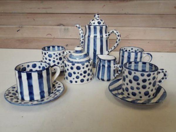 Juego de café de cerámica artesanal