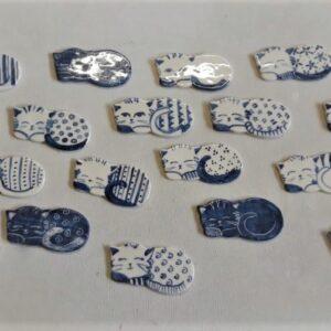 Posa Cubiertos de cerámica artesanal GEA 1
