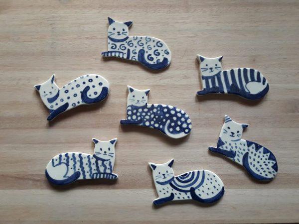 Posa Cubiertos de cerámica artesanal GEA