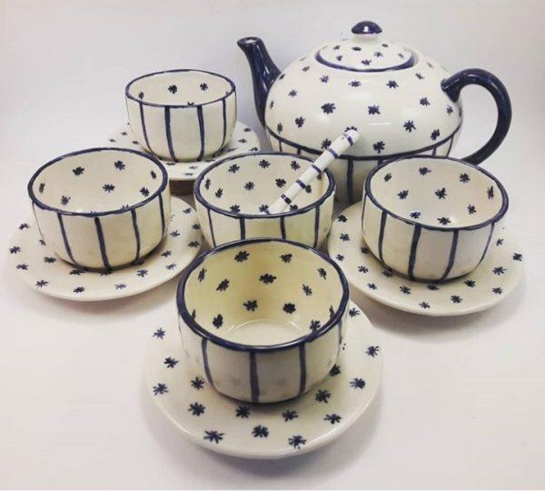 Juego de Té de cerámica artesanal GEA