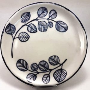 Plato redondo de Postre de cerámica artesanal GEA