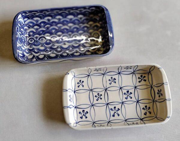 Fuente rectangular grande de cerámica artesanal 1