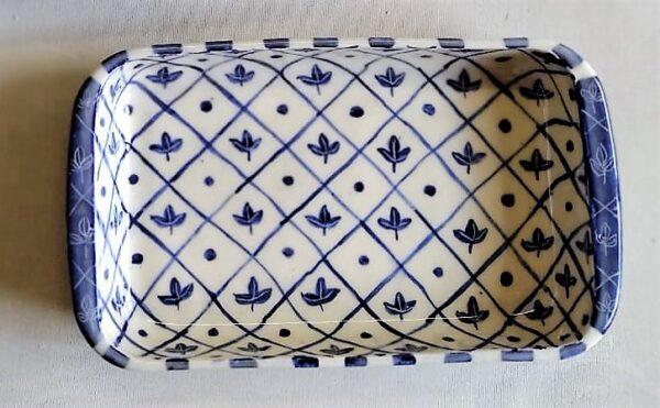 Fuente rectangular grande de cerámica artesanal 3
