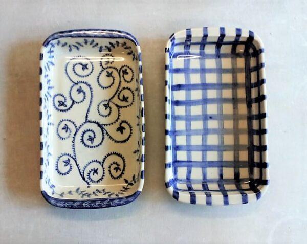 Fuente rectangular grande de cerámica artesanal 4