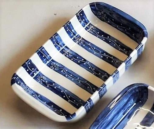 Fuente rectangular grande de cerámica artesanal 5